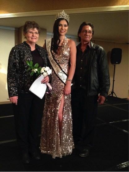 The night I won the title Miss Teen Saskatchewan 2014 alongside my mom and dad.