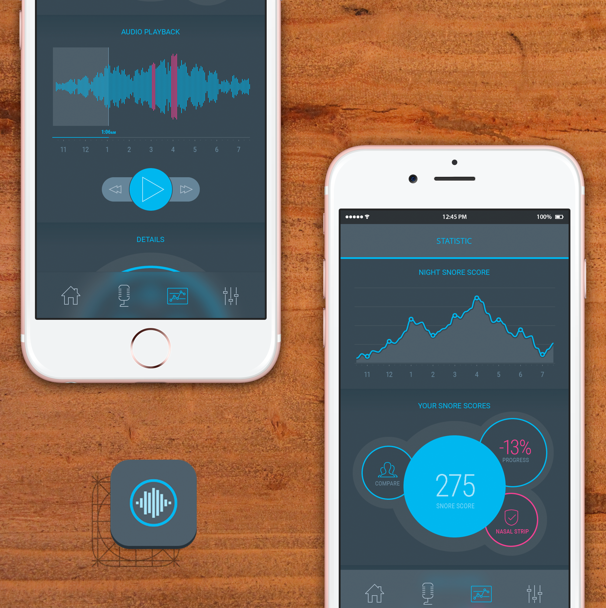 Snore tracking mobile application