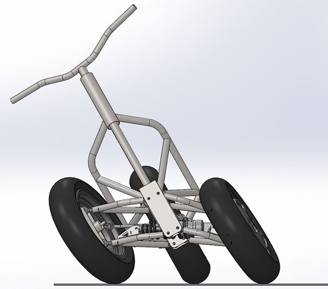 """Qesto development series """"making a prototype"""". Post 1/4: after some hand sketching, we made a simple computer model of our initial tilting system. This allows us to define all components and perform a virtual test of its capabilities. #feeltheforce #qestomotors #engineering #deltaprototype"""