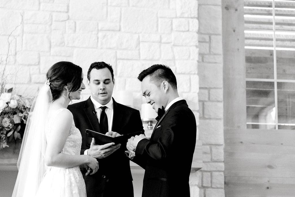 Intimate Morning Wedding Ceremony at Hidden Pines Chapel | Gray Door Photography