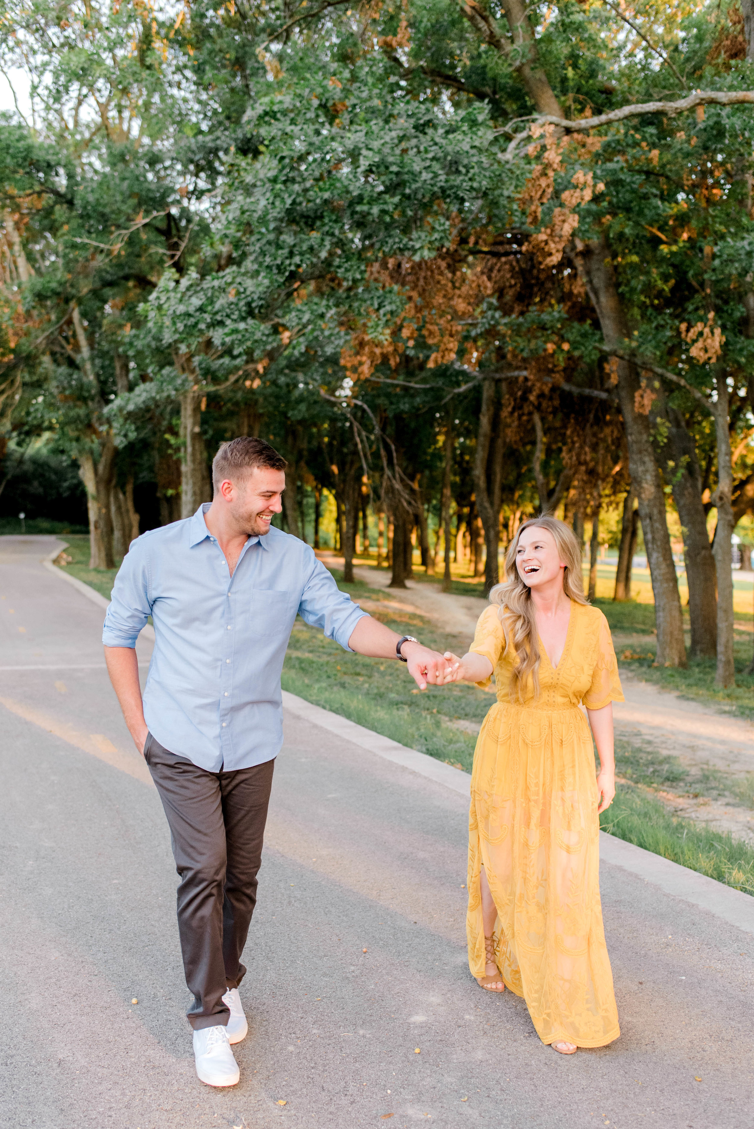 Sunset Dallas Engagement at White Rock Lake | Gray Door Photography