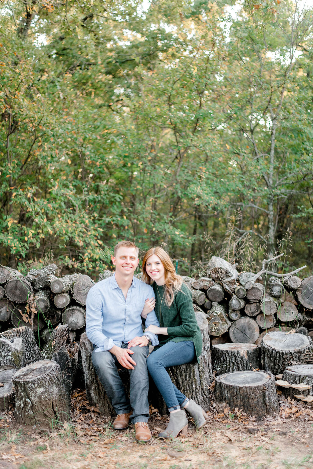 Kelsey + Artem's Autumn Engagement Session at The Grove - Aubrey, Texas | Gray Door Photography