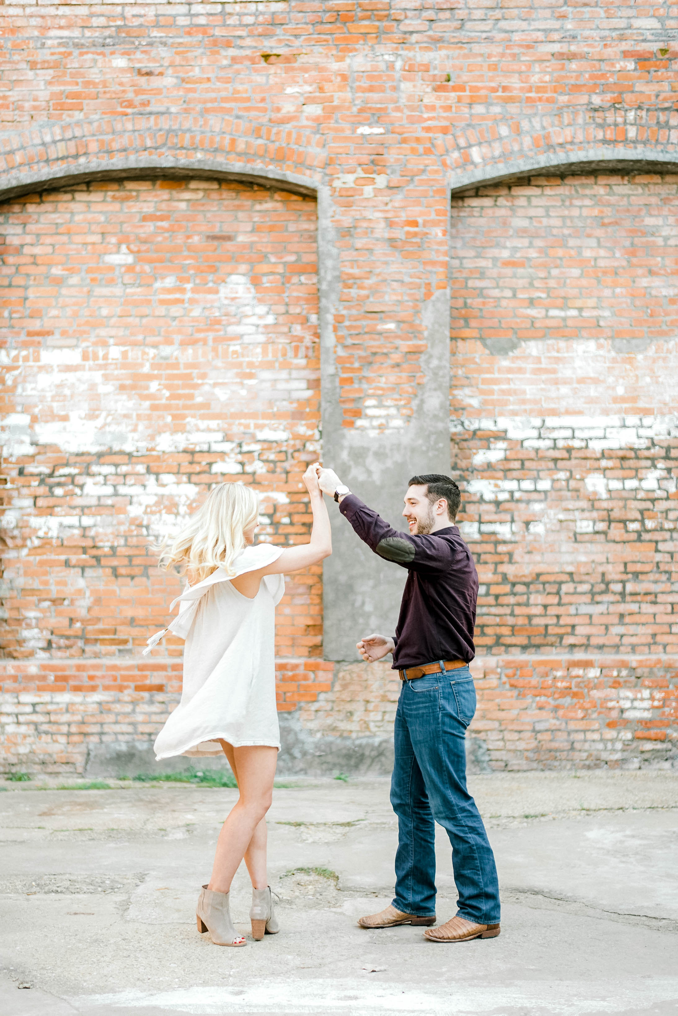 Rustic Engagement at The Cotton Mill - McKinney, Texas | Gray Door Photography