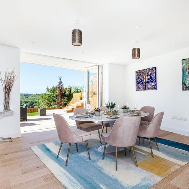 Dining views from Spitfire House #property #interiorstyle #winchesterlife