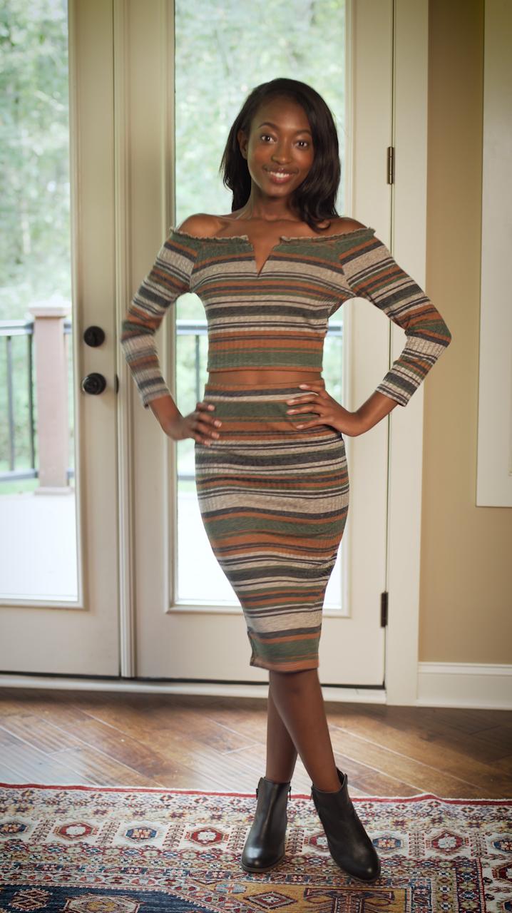 - STRIPESStriped Dress: $9.99Boots: $7.99