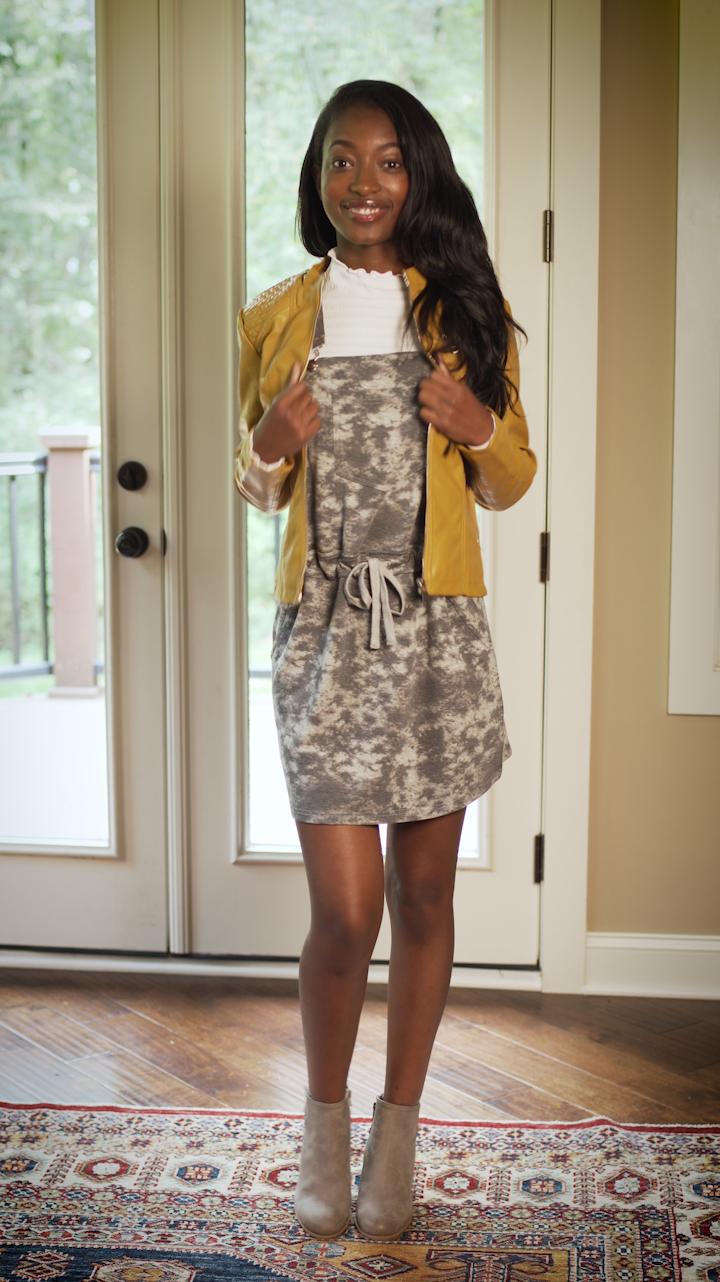 - TIE DYETie Dye Dress: $9.99Jacket: $17.99Booties: $7.99