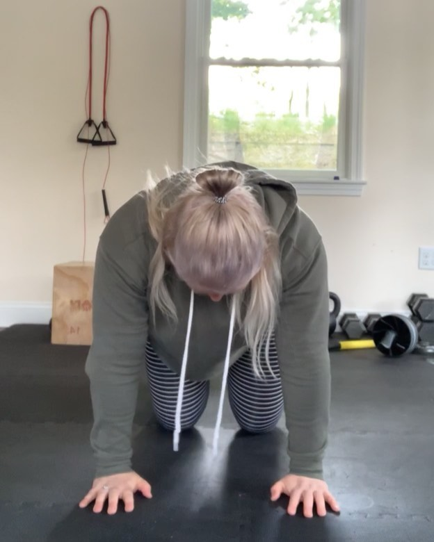 """Count this as part of your workout on your squat or deadlift day. Or off day!! . Post Malone required 🤣  Always make sure your hips are in line with your knees and shoulders in line with your wrists in table top position  Hip opener - do not rotate - only go as high as you can without compromising form 2x10ea  Adductor straddle - go slow and controlled and keep foot flat with toes facing forward 2x10ea getting a little deeper each rep . Hip flexor stretch - plank ankle in line with knee - drive hips forward without arching your lumbar spine - stay vertical and hold for a few seconds 2x each side  Standing single leg one raise to """"deadlift"""" knee in line with hip and flexed foot. Stay parallel to the floor until you are stable some for 2x5 ea side and keep core tight  Glute Z stretch - push down gently above the knee while pulling toes up off of the floor - lean forward for deeper stretch 2xa few seconds each side  Thennnn jump rope/med ball work until warm and ready to begin warm up sets!"""
