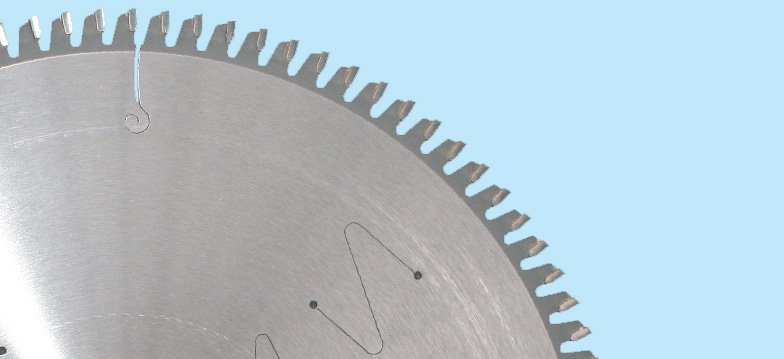 CIRCULAR SAW BLADES FOR ALUMINIUM - Our non-ferrous metal cutting blades are designed for cutting aluminium, copper, brass and other non-ferrous metals. They have specially designed, laser cut, resin-filled noise reduction slots to minimise noise in the workplace. They are suitable for popular chop saws, double mitre saws and panel saws. The most commonly used blades for cutting aluminium have a negative hook angle. They are perfect for cutting non ferrous sections and extrusions. To cut non-ferrous solids and plates, we recommend blades with a positive hook angle.