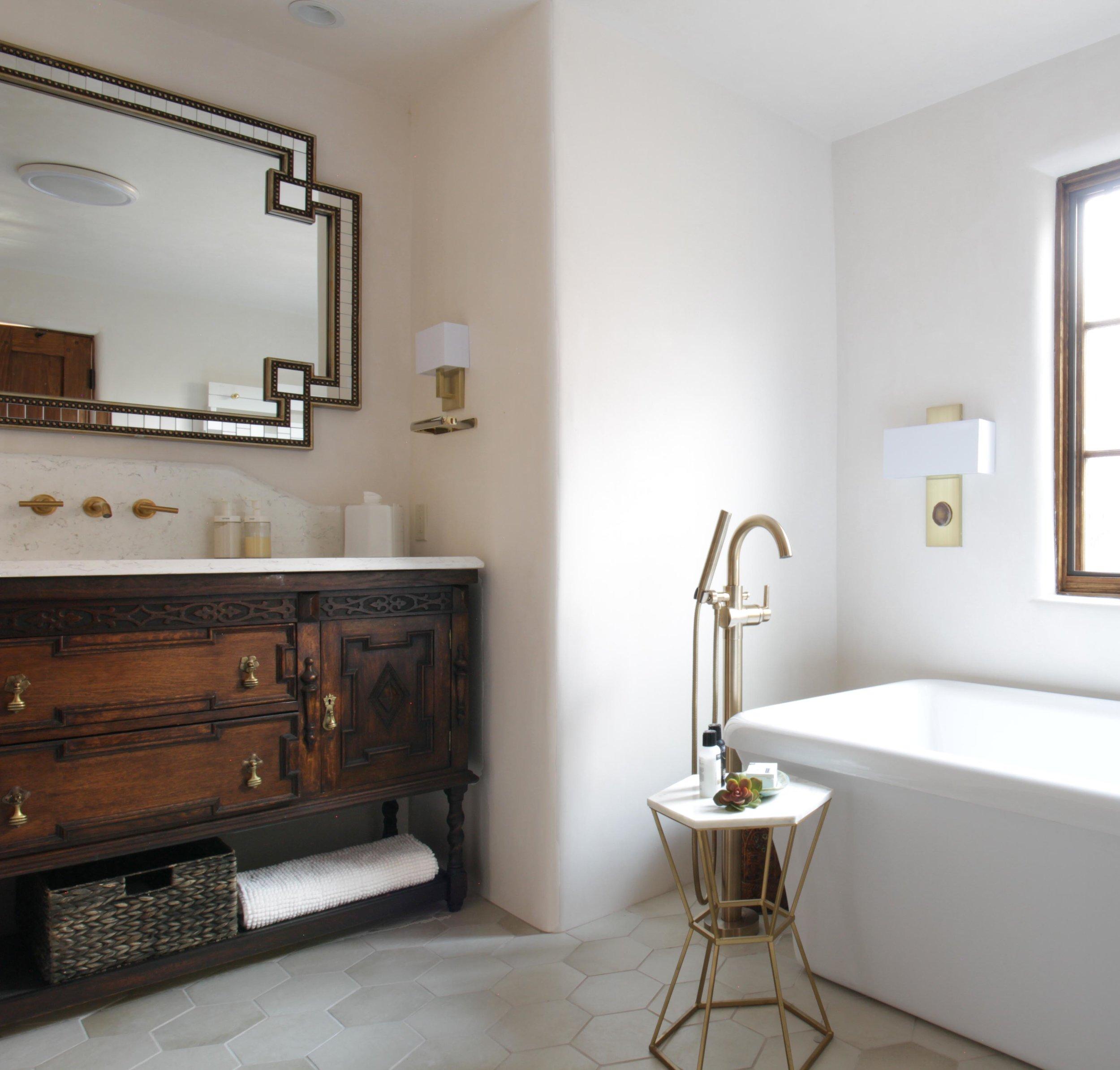 Master Bath New Mexico Modern Eclectic Design Interior