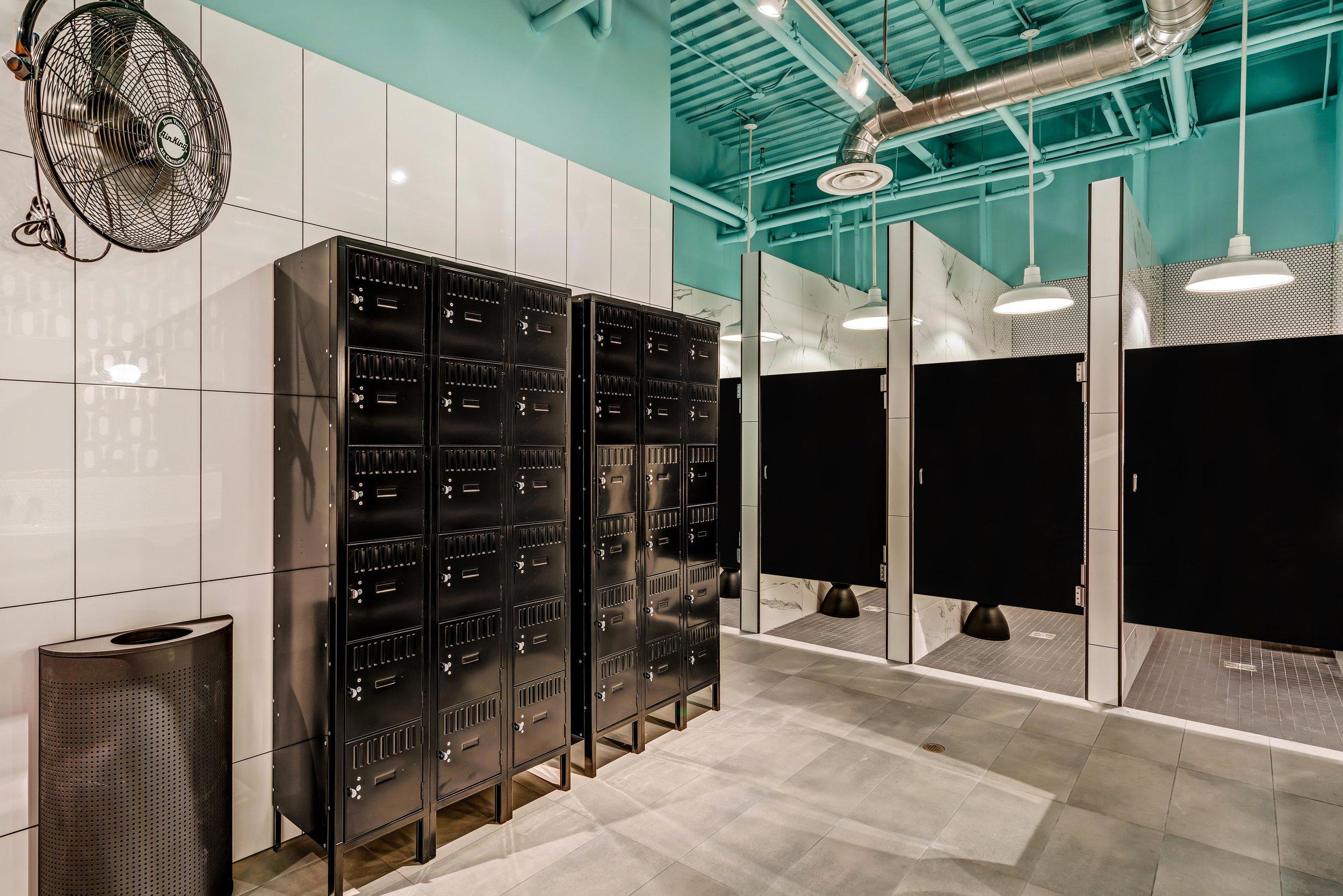 Women's Locker Room Yoga Studio Modern Interior Design