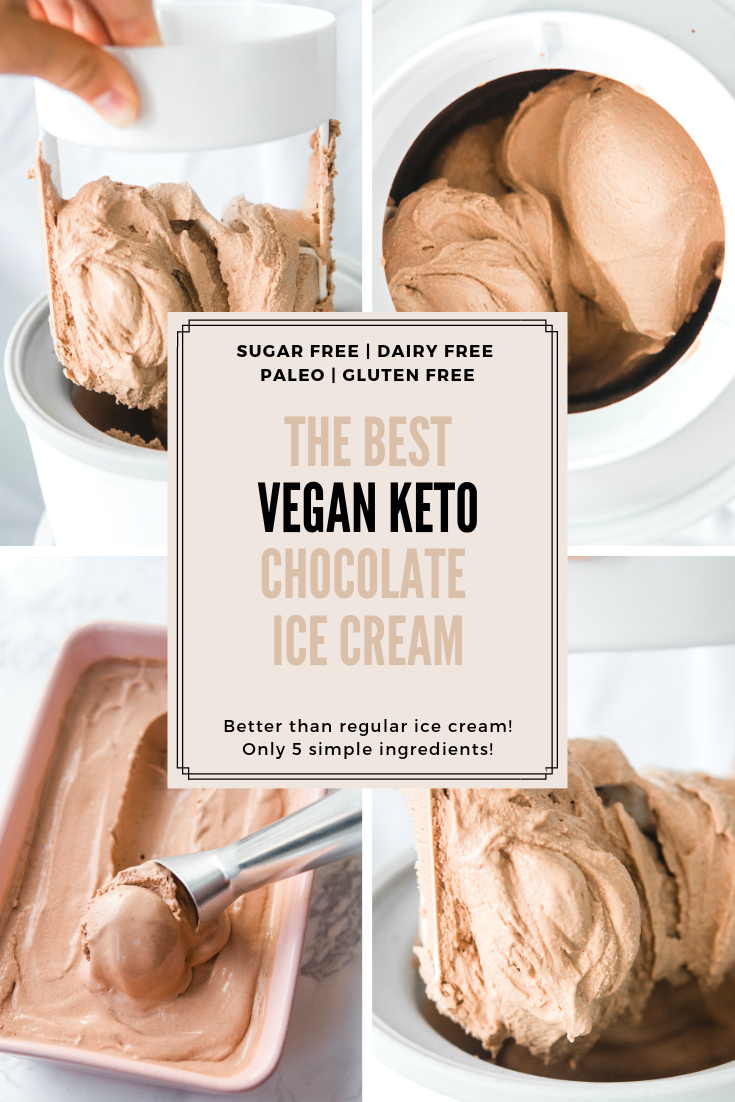 The Best Vegan Keto Chocolate Ice Cream! (sugar free, dairy free, low carb, gluten free)