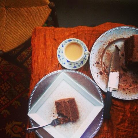 chocolatecakeslice&tea