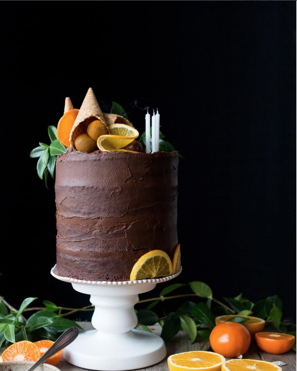chocolate orange cake, the little plantation blog