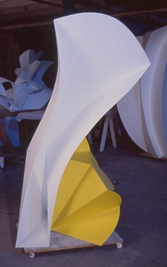 2009The Marion Koogler McNay Art MuseumSan Antonio, Texas - Untitled, 1995White and yellow aluminum66 x 40 x 40 inches