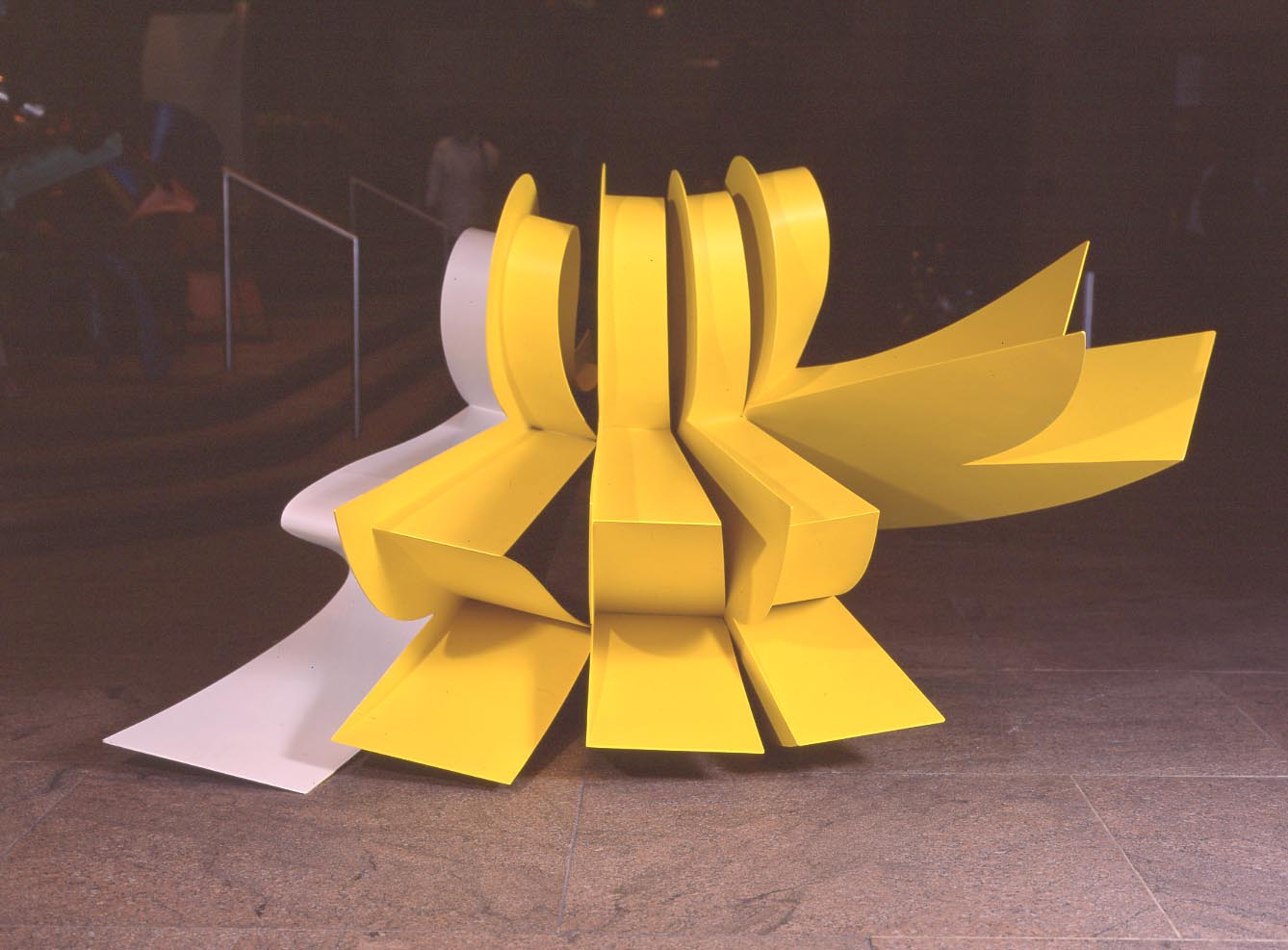 2007The Regents of the University of Southern CaliforniaLos Angeles,California - Five Points, 1991Yellow and white painted aluminum54 x 92 x 44 inches48 x 84 x 52 inches