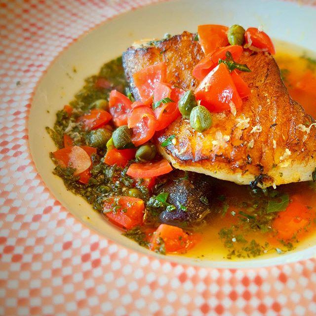 "Debuting on the #menu next week- the traditional #italian dish of Cod all'acqua pazza which translates to Cod in ""Crazy Water"". Seared cod, capers, tomato, white wine, saffron. 🐟 . . . . . #pastabarsg #eatpasta #lovepasta #foodiesg #cod #searedfish #fresh #acquapazza #yum #chef #italianfood #newrestaurant #instasg #sg #sgeats #eatsingapore #keongsaik #italia #artisan #newrestaurant #singaporefood #freshbaked"