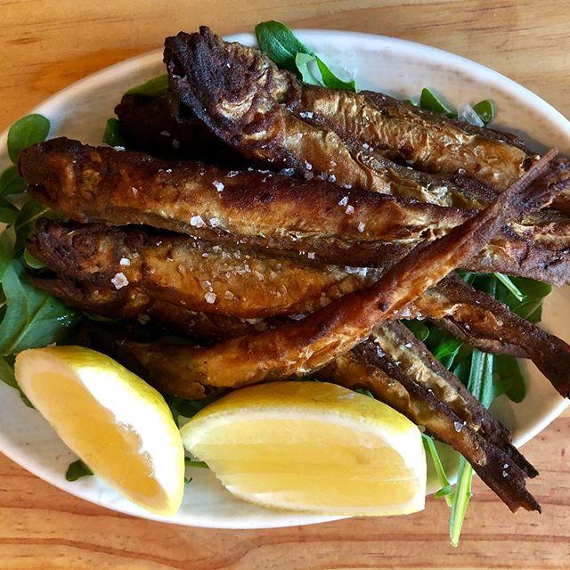 **New on the menu this week** Fried smelt, Maldon sea salt, lemon 🍋