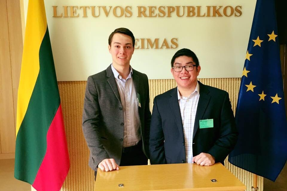 Povilas Kučinskas and Aaron Tatad at the Lithuania Parliamant