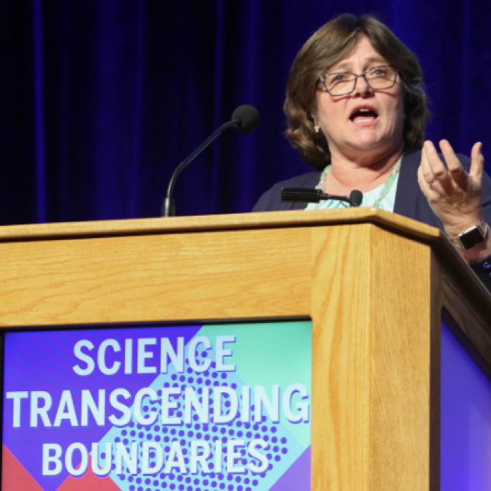 Dr. Lucy Jones delivered the closing plenary lecture of the 2019 AAAS Annual Meeting  Image credit: Robb Cohen