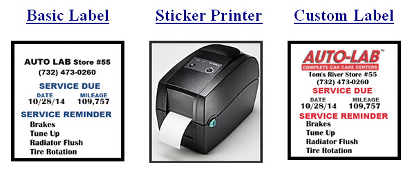 Oil Change Sticker Printer >> Lof Sticker Printer Automotive Repair Shop Software And Labor Data