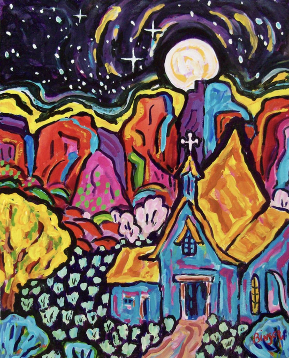 """""""Moonlight"""" Watercolor - Bill Binger"""
