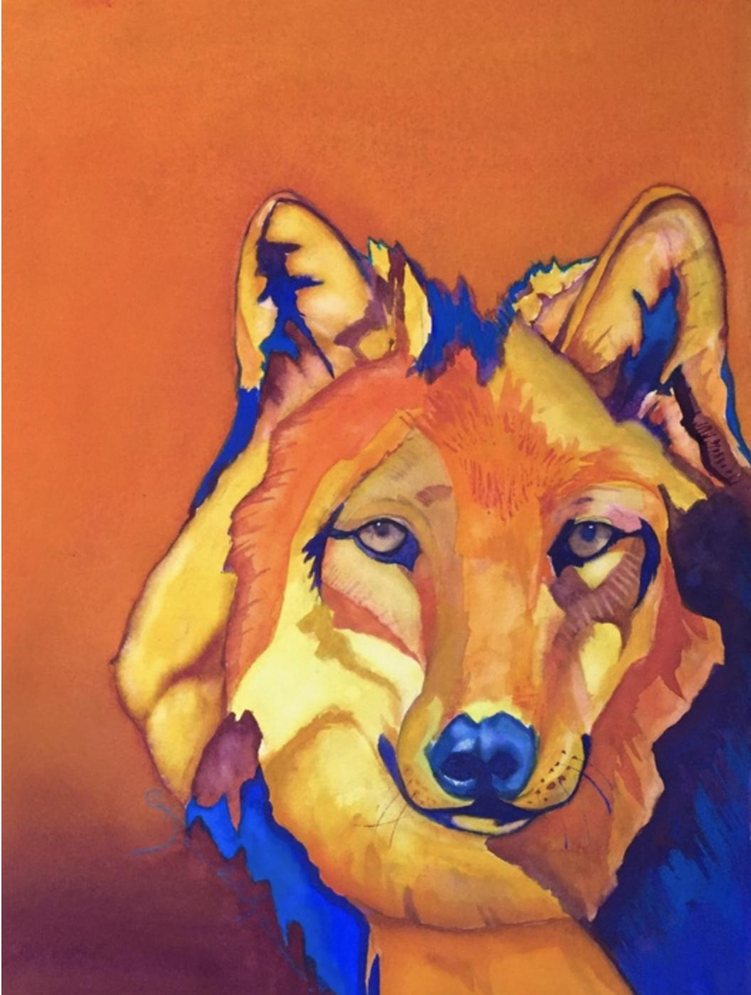 """""""Silent Sentinel"""" Watercolor & Gouache - Karen Ahlgren"""
