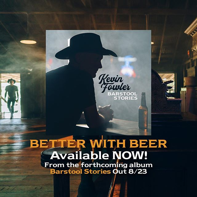 "It's finally here! ""Better With Beer"" the first single from my forthcoming album 'Barstool Stories' out August 23rd. Stream it, share it, pre-order it at the link in bio!"