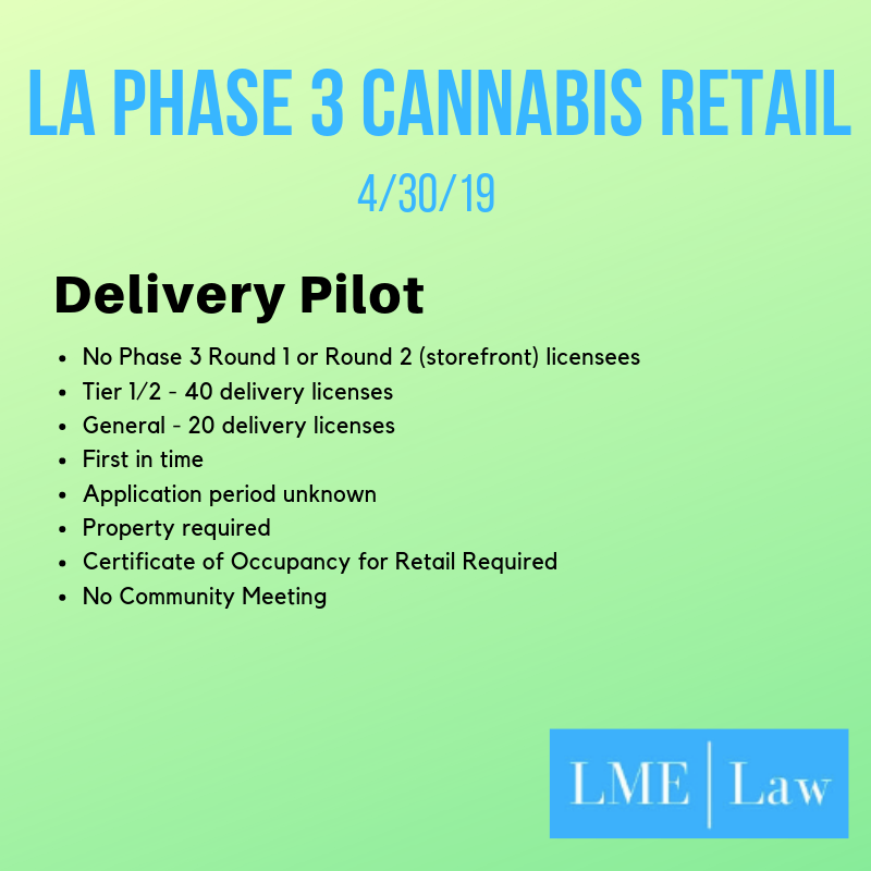LA Phase 3 cannabis delivery pilot program