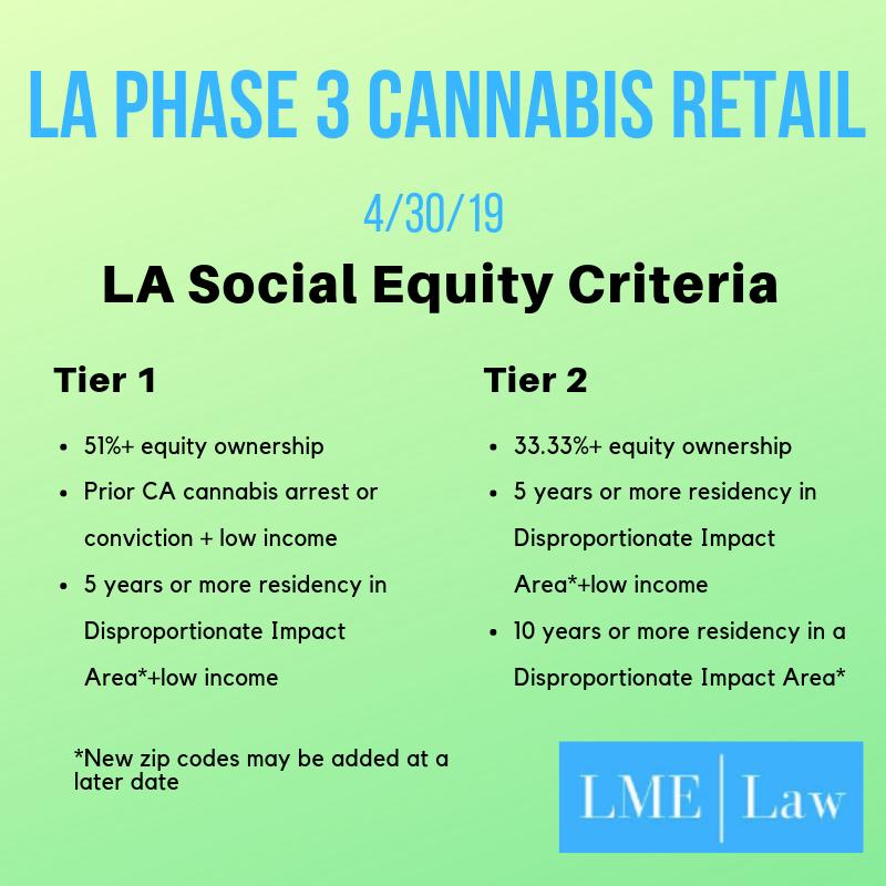 LA Phase 3 Cannabis - Social Equity Criteria