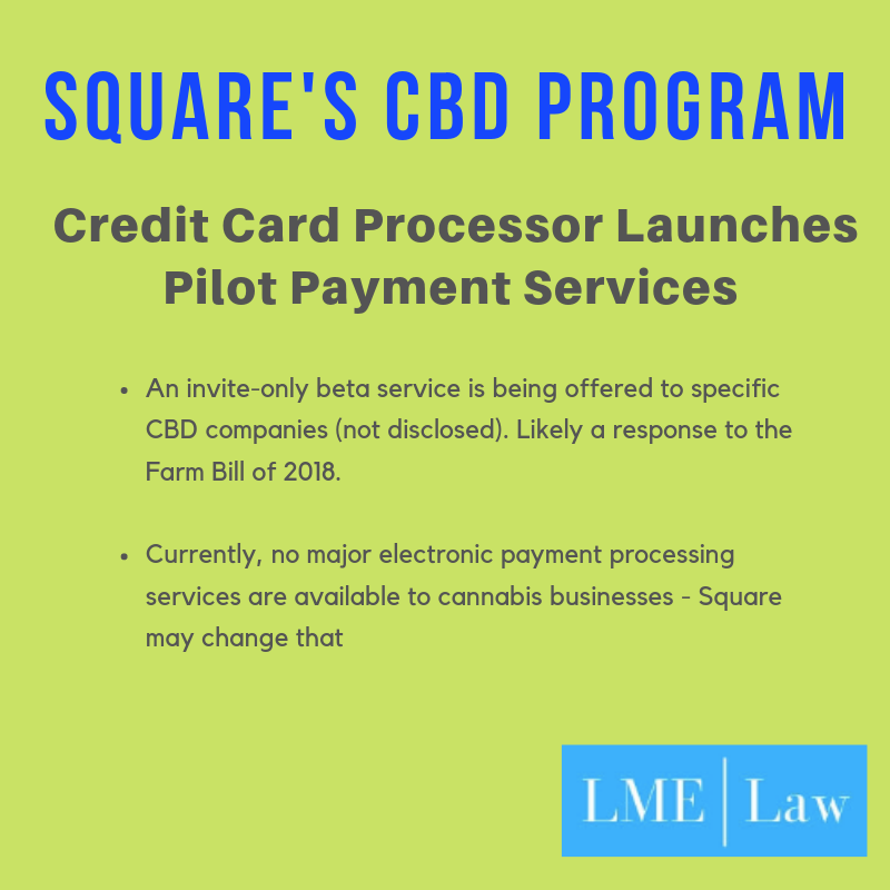 Square Launches Pilot Program for CBD Companies