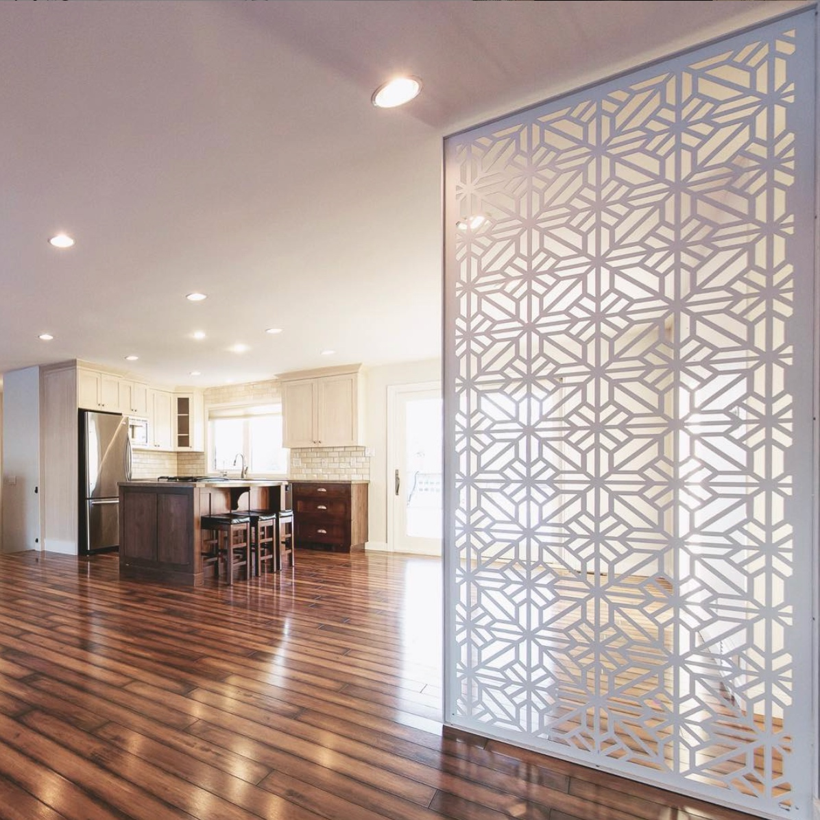 """an interior application of the stunning """"boho"""" pattern"""