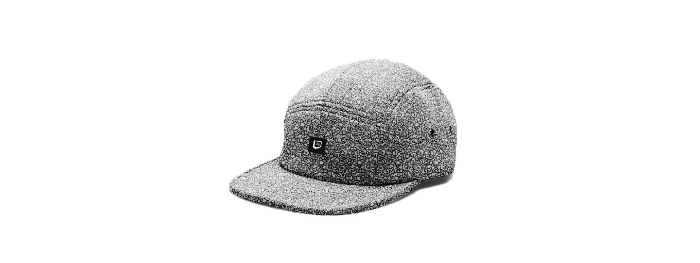 5panel Pattern White Black2.jpg
