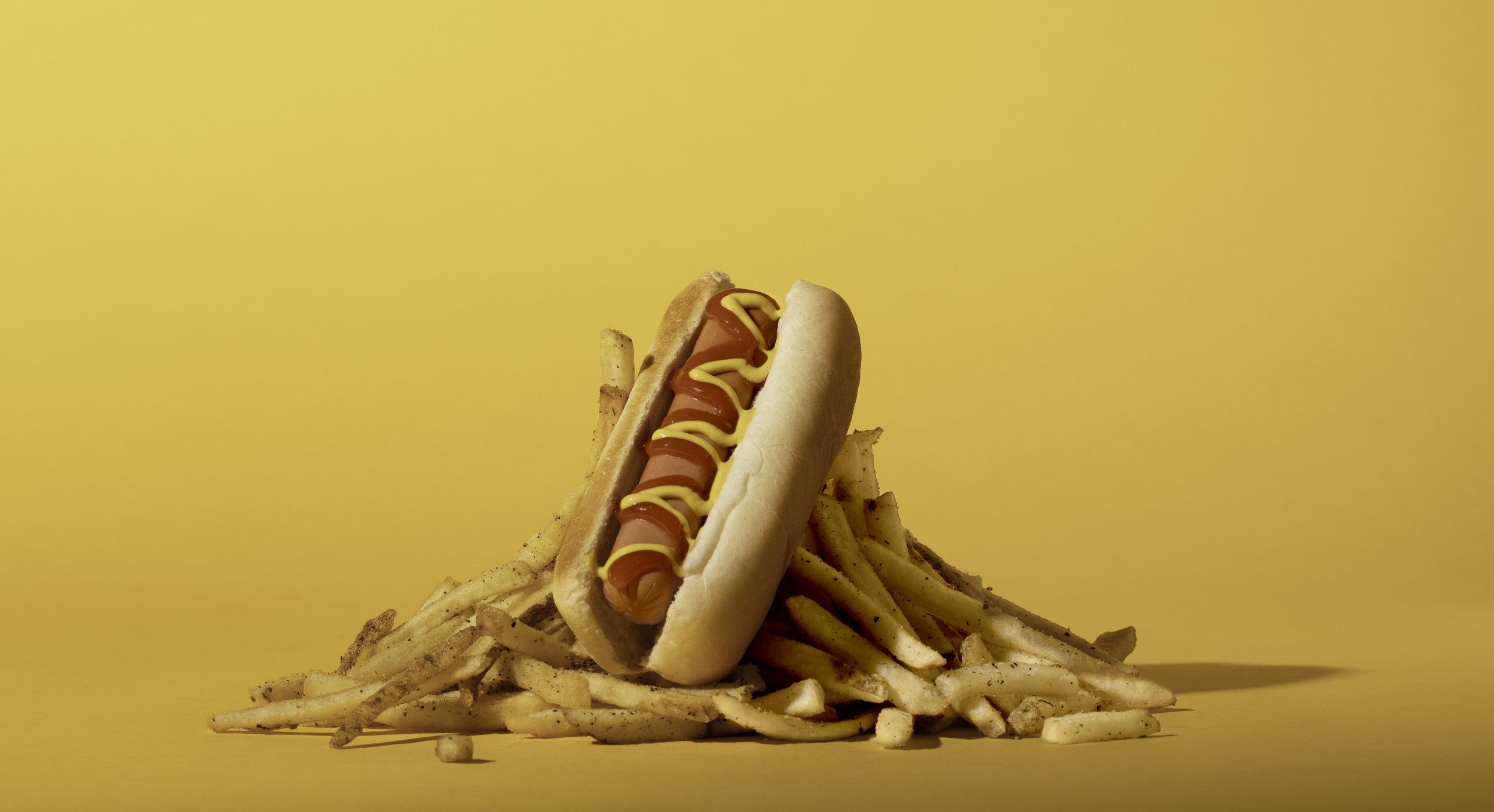 Sup Dog Hot Dog and Fries