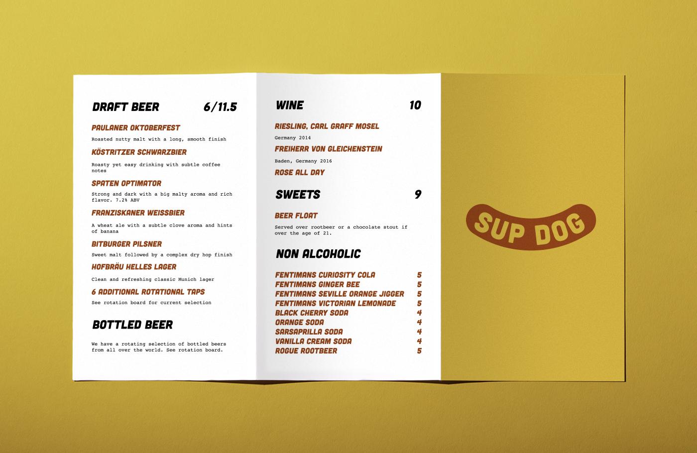 Open Sup Dog food menu