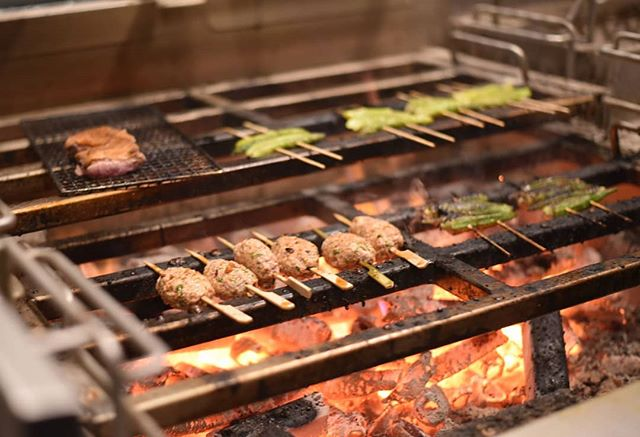 You can taste the open flame. 🔥  Did you know that KAI has the largest robata grill, also known as a Japanese charcoal grill, in Dallas-Fort Worth, with the most extensive robata menu in Texas?  #kai #kailegacywest #legacywest #planofood #planorestaurants #southeastasian #asiancuisine #eatdrinkenjoylife #yakitori #skewers #robata #charcoal #grill