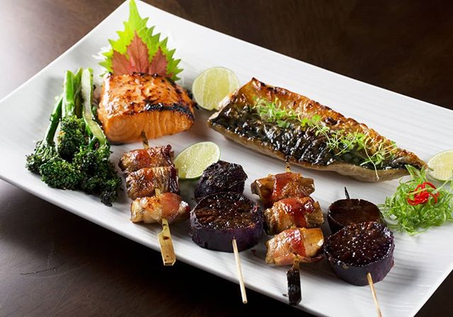 It's difficult to pick just one thing off the largest Robata menu in Texas! Come in with your friends and try it all.  #kai #kailegacywest #legacywest #happyhour #planohappyhour #planorestaurants #dallasrestaurants #dessert #eatdrinkenjoylife #robata #robatagrill #charcoalgrill
