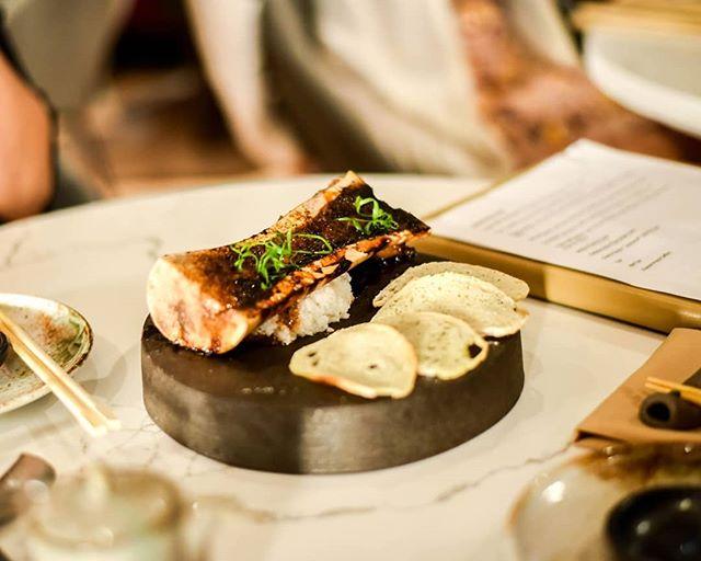 Try one of our favorites tonight, Bone Marrow Teriyaki with ginger teriyaki, spring onion, and melba toast.  #kai #kailegacywest #legacywest #happyhour #planohappyhour #planorestaurants #dallasrestaurants #dessert #eatdrinkenjoylife #bonemarrow #bonemarrowteriyaki #teriyaki #ginger