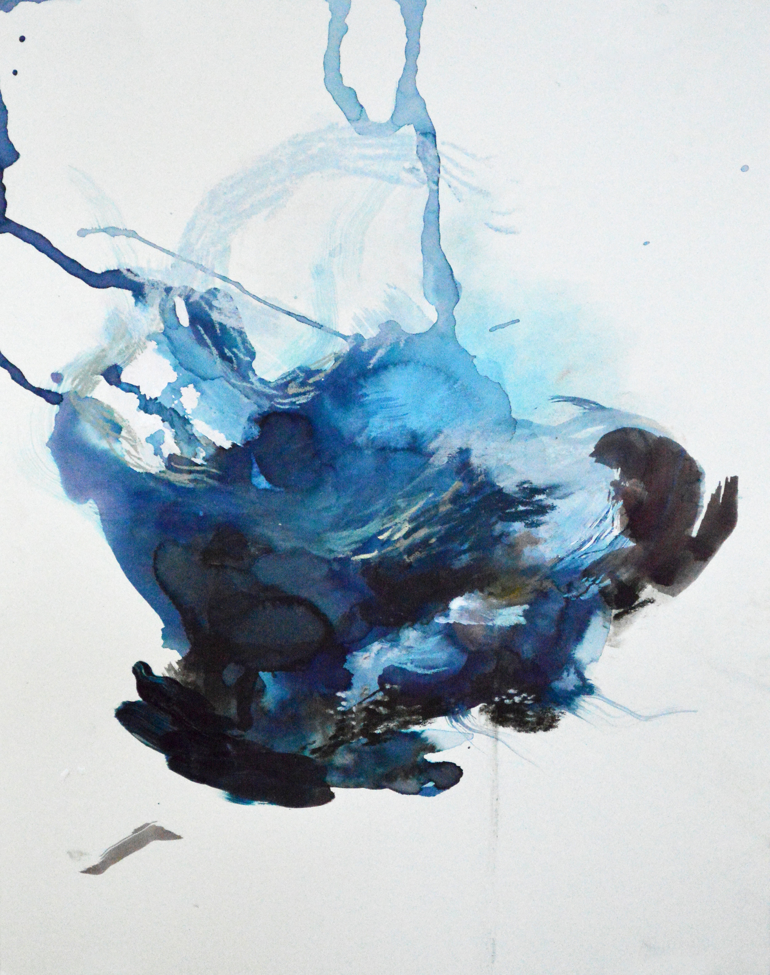 Blue, 11 x 14 inches