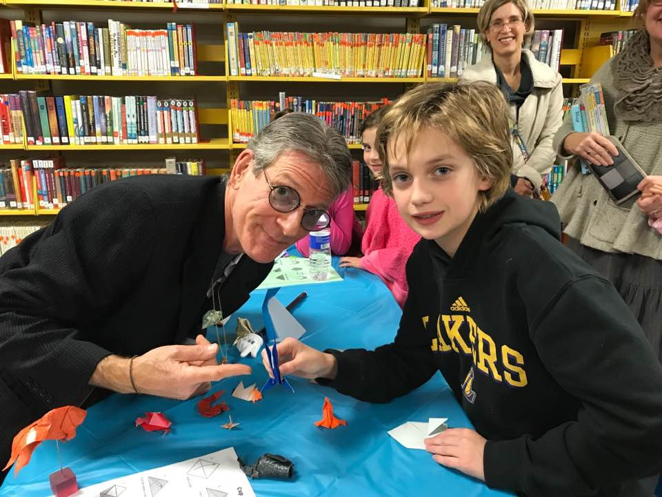Teaching (and being taught) at an elementary school book fair.