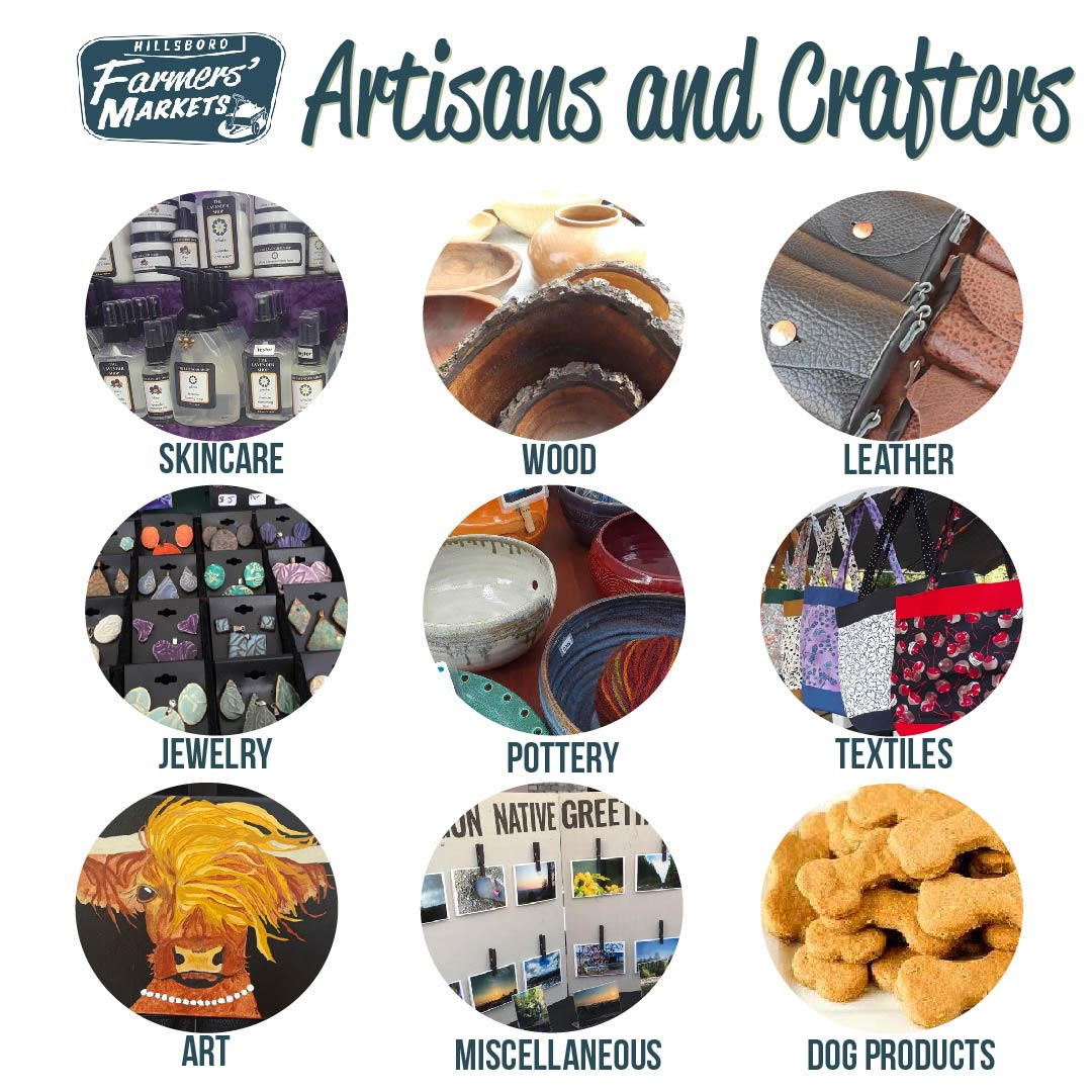 Our markets are proud to accept local artisans and crafters! From Skincare to Pottery, You'll fIND EVERYTHING YOU NEED FOR YOU AND YOUR HOME. -