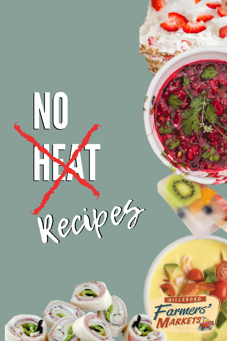 No Heat Recipes - The midsummer heat means hot foods no longer seem as appetizing as they do during the rest of the year. If you've been avoiding making fresh home-cooked meals for fear of having to turn on the oven or stove, this list of no-heat summer recipes is for you!