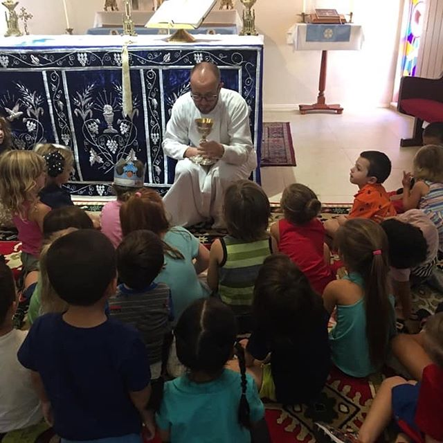 Today our school kids took a tour of the church and learned about all of the symbols and objects used during Liturgy!  #catholic #maronite #catholicschool #preschool #tequesta #jupiter #florida #church