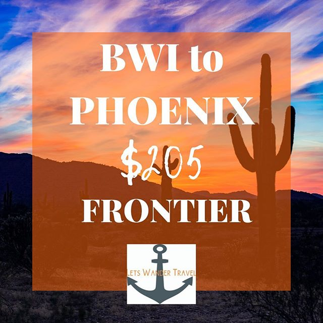 flights from BWI to MEMPHIS Example dates OCT 23-27 We can see these fares OCT & NOV  These great fares will only benefit quick decision makers! They don't last long. Tag a friend for a week adventure in PHOENIX to go on an adventure with.  Lets Wander Travel is always available to send you on a Mystery Trip-- see link in bio for deets.  GO HAVE AN ADVENTURE! . . . #bwi #airport #maryland #goodflights #flightdeals #letswander #letswandertravel #mysterytrips #surprisetrips #letsgoonanadventure #travelagency #domestictrips #BaltimoreWashingtonAirport #travel #bucketlist #veteranowned #USAtravel #borntotravel #traveldifferent #don'tbescared #ARIZONA #cheapflights #exploretheUSA #wanderer #vagabond @PHOENIX