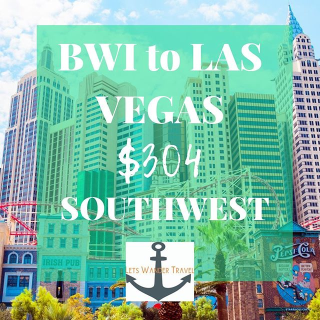 DIRECT flights from BWI to LAS VEGAS Example dates NOV 11 - 19 We can see these fares THRU MARCH  These great fares will only benefit quick decision makers! They don't last long. Tag a friend for a week adventure in LAS VEGAS to go on an adventure with. Check out @THELASVEGASFOODIE and see what kind of trouble you can get in!! Lets Wander Travel is always available to send you on a Mystery Trip-- see link in bio for deets.  GO HAVE AN ADVENTURE! . . . #bwi #airport #maryland #goodflights #flightdeals #letswander #letswandertravel #mysterytrips #surprisetrips #letsgoonanadventure #travelagency #domestictrips #BaltimoreWashingtonAirport #travel #bucketlist #veteranowned #USAtravel #borntotravel #traveldifferent #don'tbescared #NEVADA #cheapflights #exploretheUSA @LASVEGAS #SINCITY #wanderer