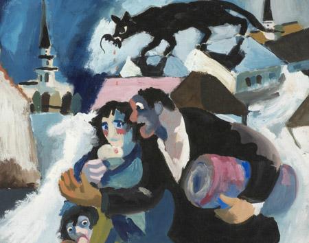 Josef Herman, Refugees, c.1941 © Ben Uri Gallery & Museum