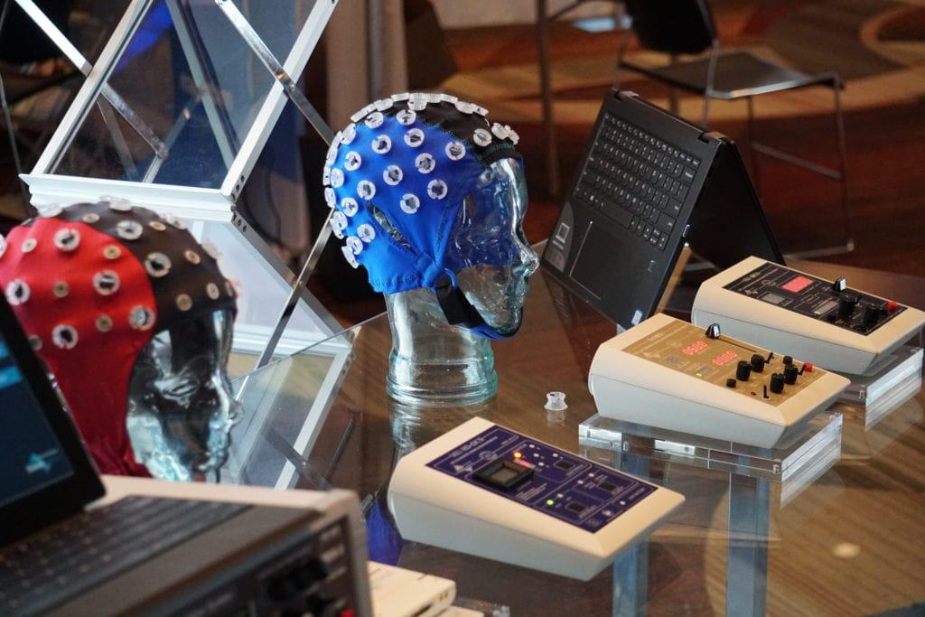 EEG caps and Soterix stimulators