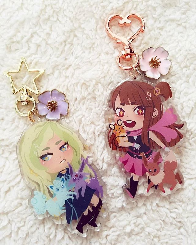 Shop update 2!!!! Little Trainer Academia charms are back up! Limited stock, so grab them before they're gone 💖💖 • • • #art #digitalart #animemerch #acryliccharm #littlewitchacademia #akko #dianacavendish #lwa #pokemon #artshop #animeart #mangaart #animegirl