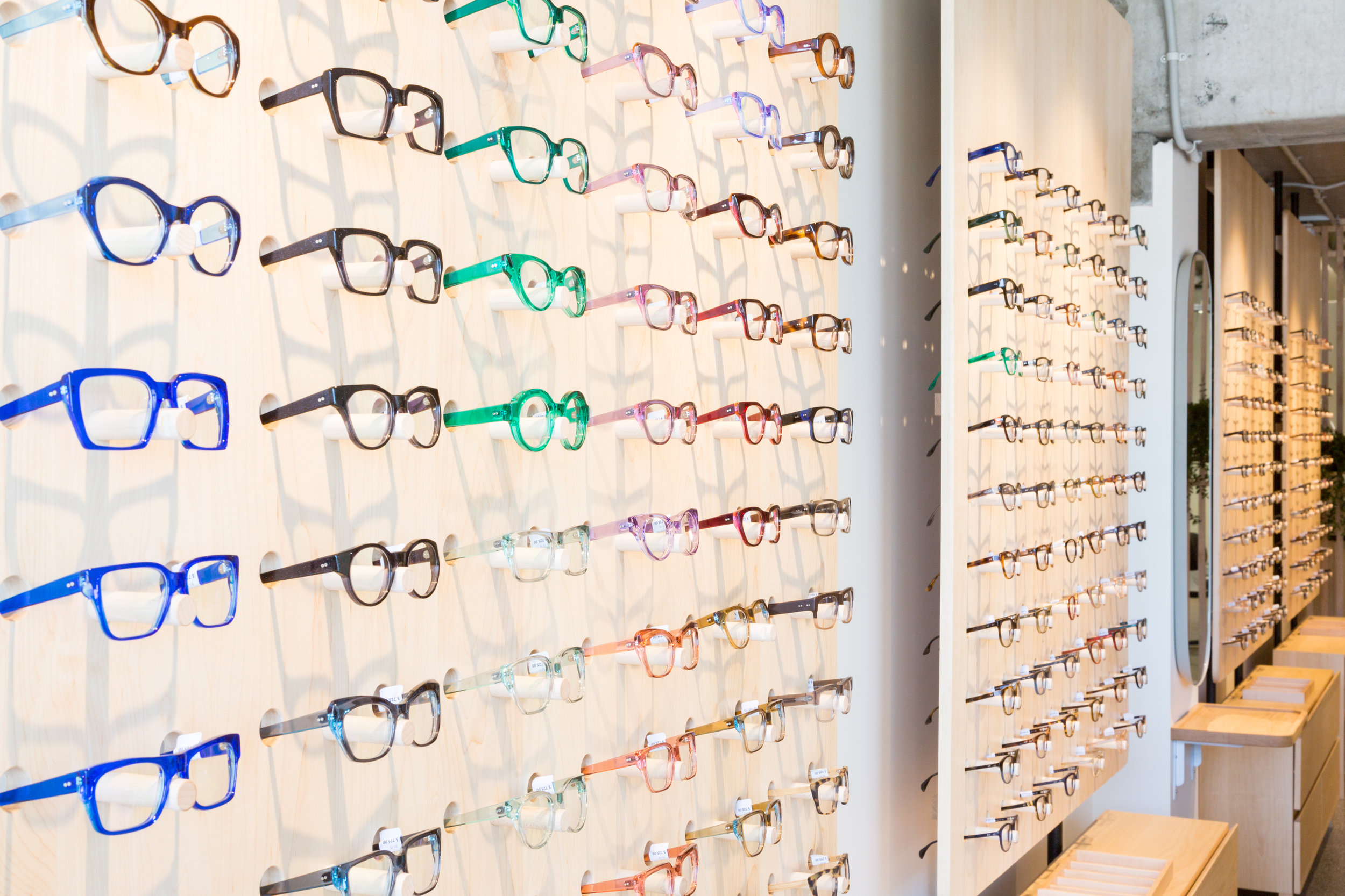 frames glasses wall teed street