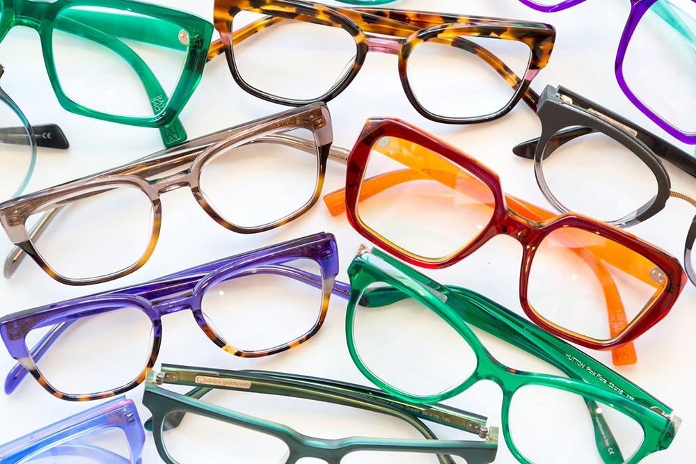colourful frames scattered around