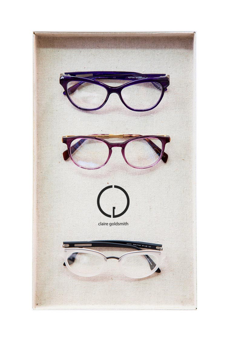 Claire goldsmith frames in a tray